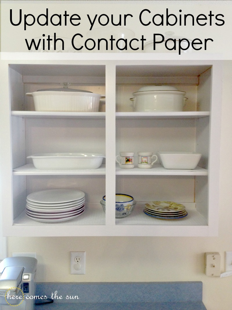 How to Update Cabinets with Contact Paper | Here Comes The Sun