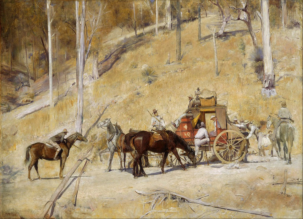 Bailed Up 1895 painting by Australian artist Tom Roberts.