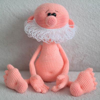 Вязание игрушки ножки