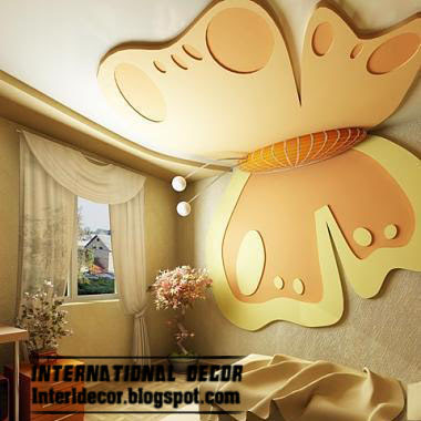 5 modern kids room gypsum ceilings designs for Art decoration international