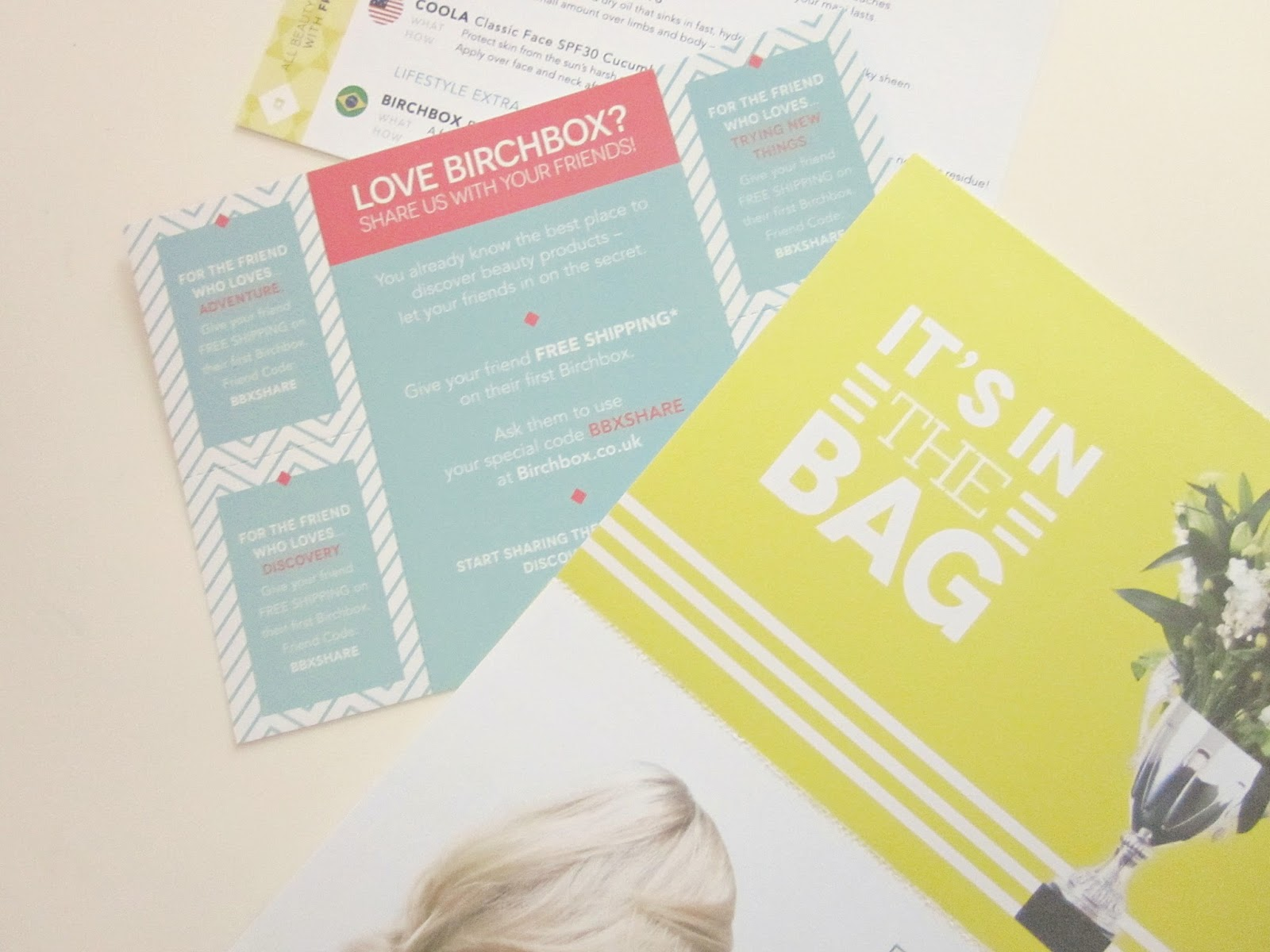 June Birchbox cards
