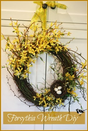 SPRING FORSYTHIA WREATH DIY