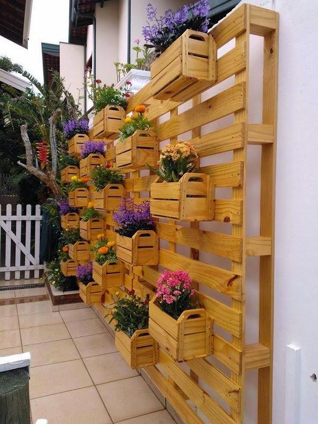 nouvelle idée planteur plante palette