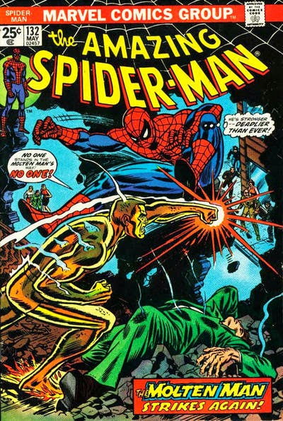 Amazing Spider-Man #132, the Molten Man