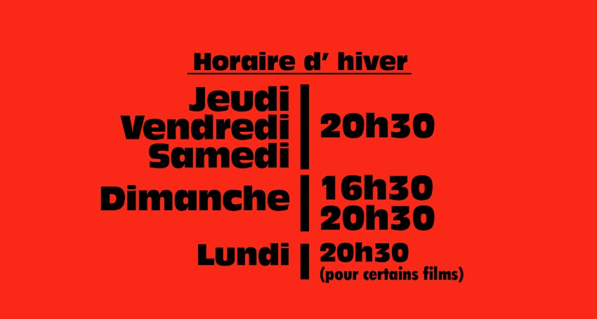 HORAIRE HIVER
