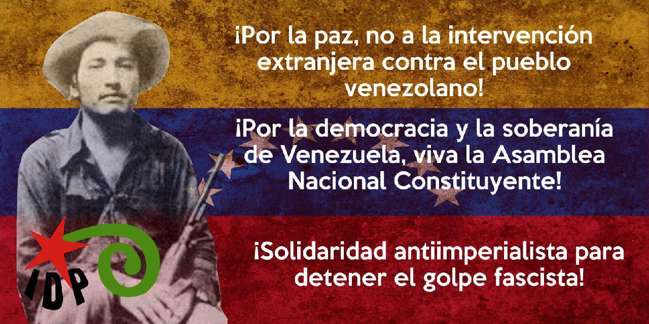 NO A LA INTERVENCIÓN EN VENEZUELA