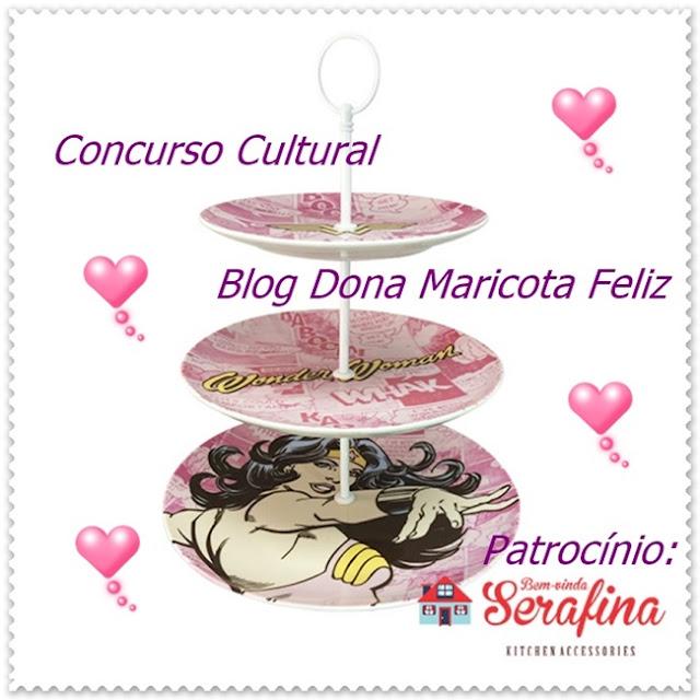 Concurso Cultural, Sorteio, Bem Vinda Serafina, Cozinha, Na Cozinha da Maricota, Mulher Maravilha, Prato, Decoração,