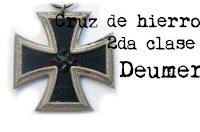 """Cruz de hierro segunda clase de Deumer """"L/11"""