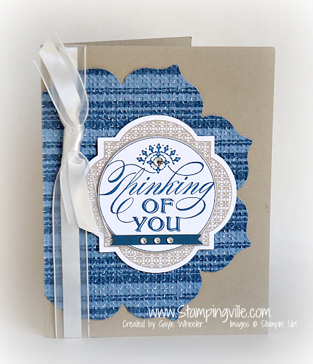 Stampin' Up! Just Thinking Stamp Set Card