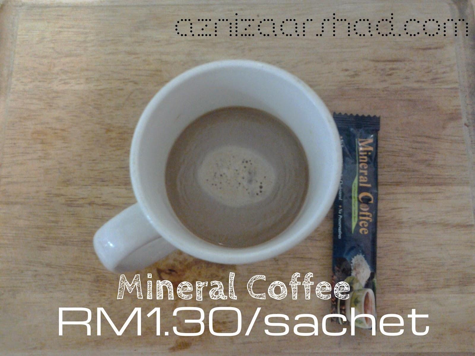 Mineral Coffee Lover, Mineral Coffee, Azniza Arshad, www.mamadarwisy.blogspot.com, Kopi robusta, Mineral Kopi