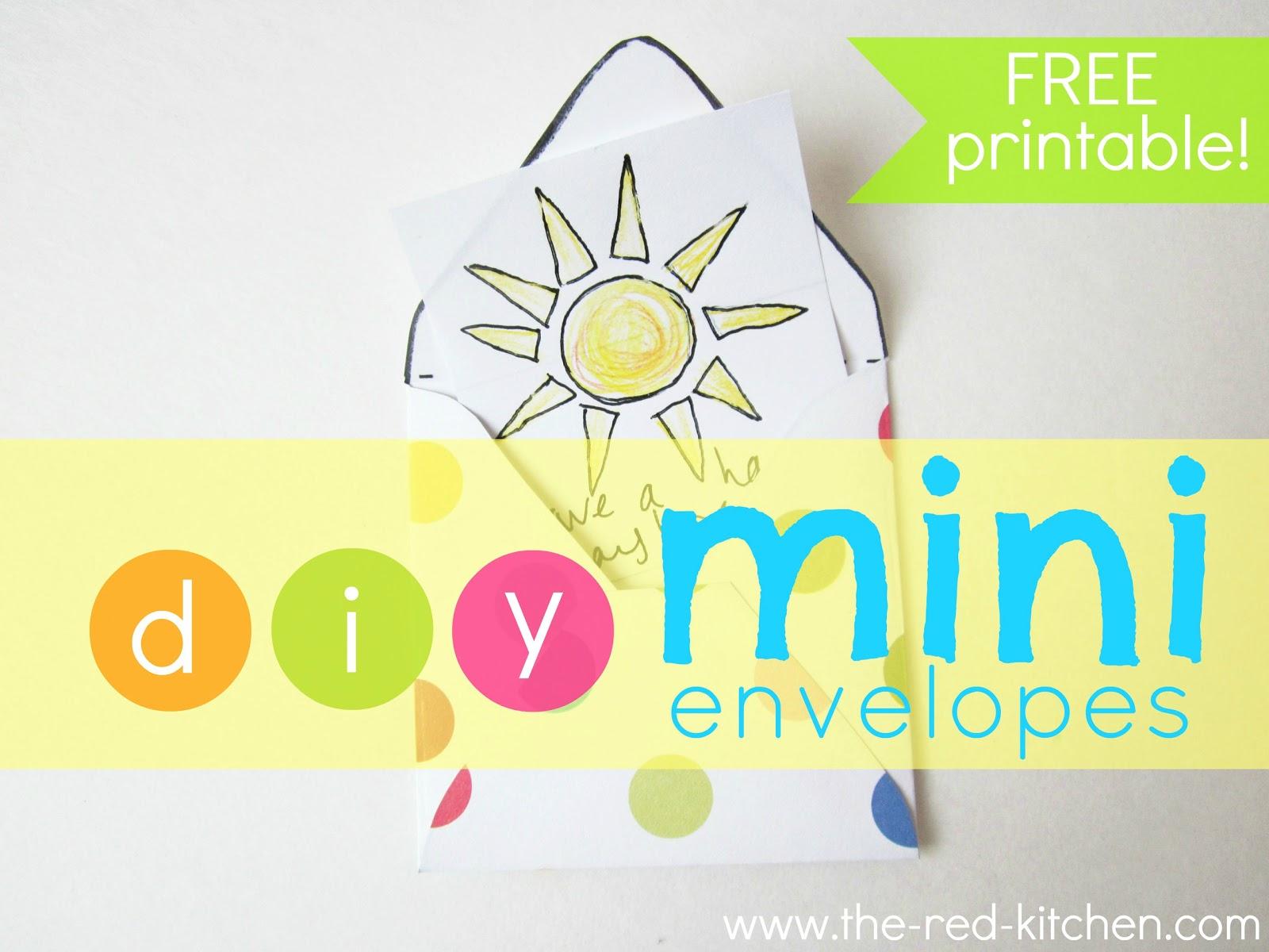The Red Kitchen Diy Mini Envelopes Free Printable Pattern Tutorial