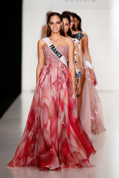 Sashes and tiaras miss universe 2013 contestants at for Couture france