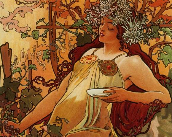 Alphonso Mucha Art Painting Wallpapers 02