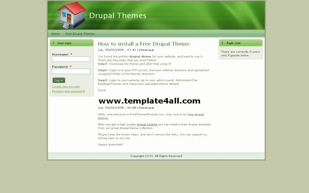 Green Business Grunge Free Drupal Style Theme