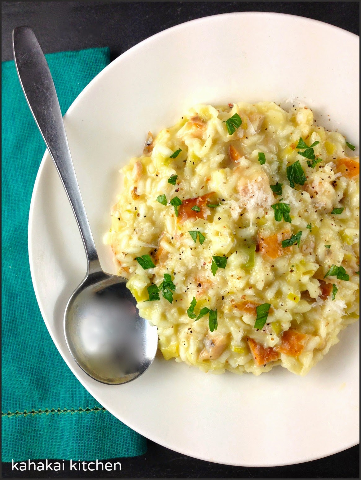 Kahakai Kitchen: Smoked Trout and Leek Risotto {One Photo ...