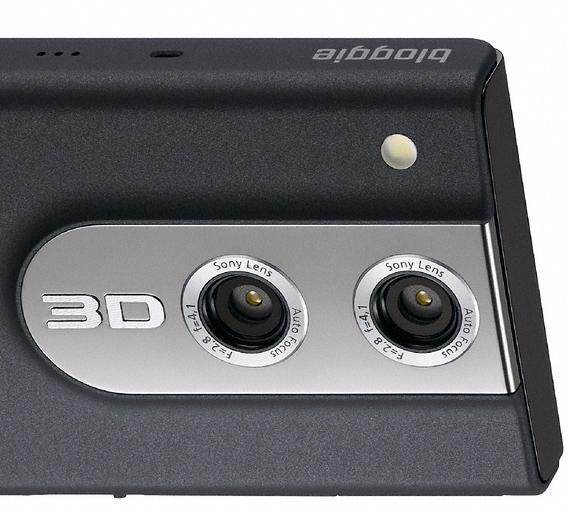 Cámara 3D de Sony con 2 lentes