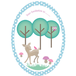 Woodland themed invites by Torie Jayne