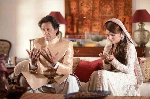 Imran Khan New Marriage pics with Reham Khan.