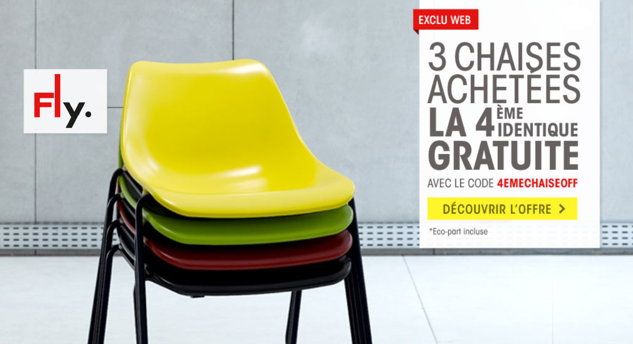 le blog malin fly 3 chaises achet es la 4 me chaise identique gratuite. Black Bedroom Furniture Sets. Home Design Ideas
