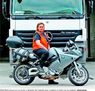 Entrevista a Aída Rado, camionera, motera y música