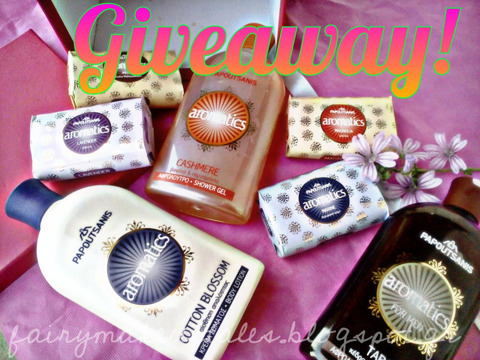 Win a box full of Aromatics by Papoutsanis bath products!