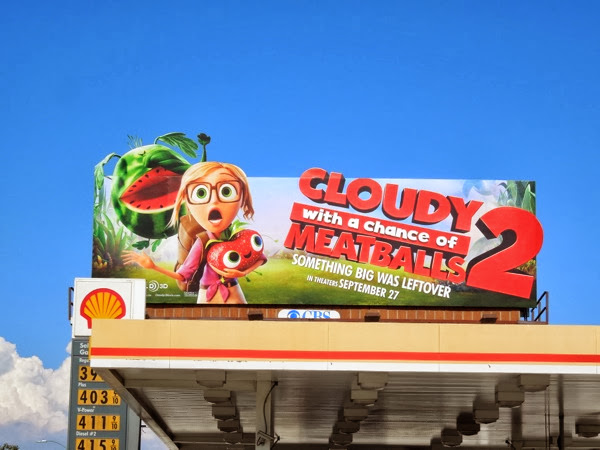 Cloudy with Chance of Meatballs 2 extension billboard