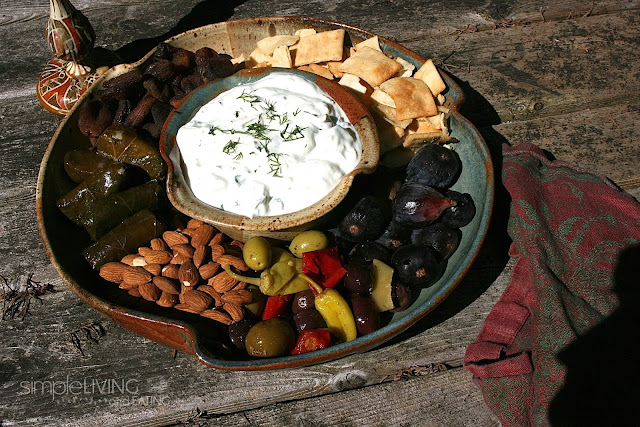 Tzatziki Greek Appetizer Platter