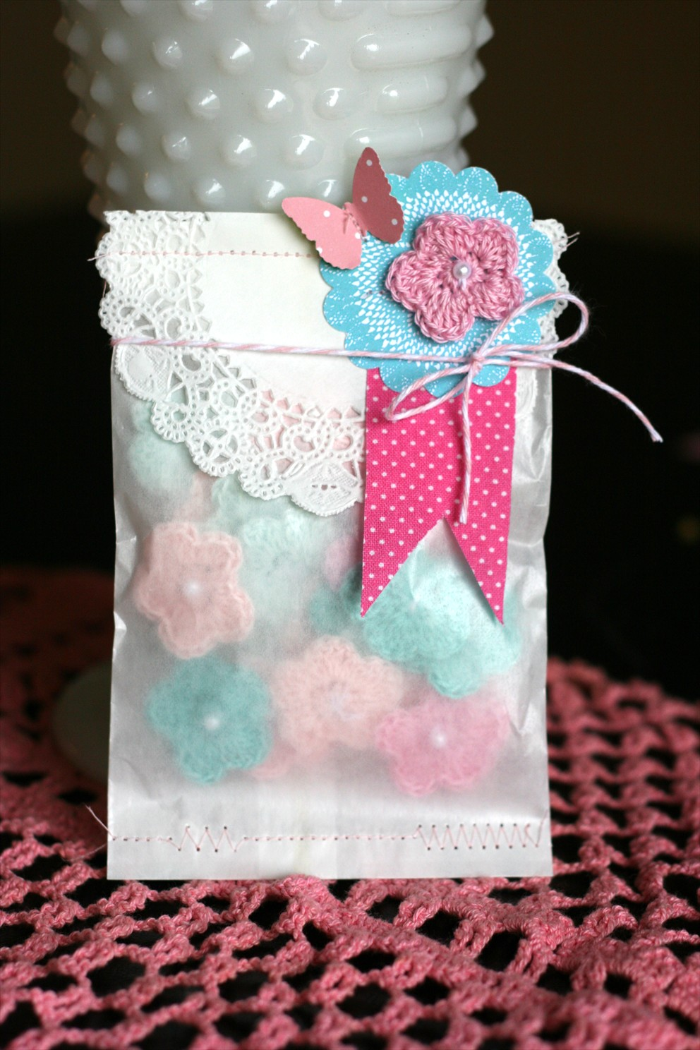 paper tag friday favorites baby shower candy buffet favor bags