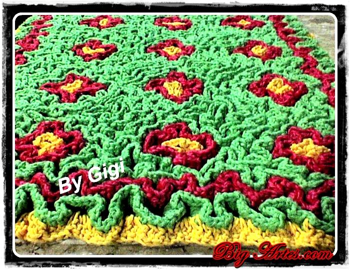 Tapetes de crochê em Barbante São Francisco por Gigi Marchini