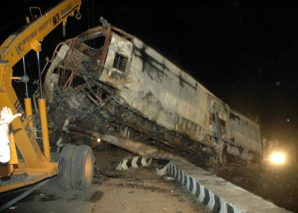 The-remains-of-the-Ill-fated-bus-that-was-involved-in-an-accident-on-the-Chennai-Banglore-National-Highway-near-Kaveripakkam-on-Tuesday-night-07-June-2011