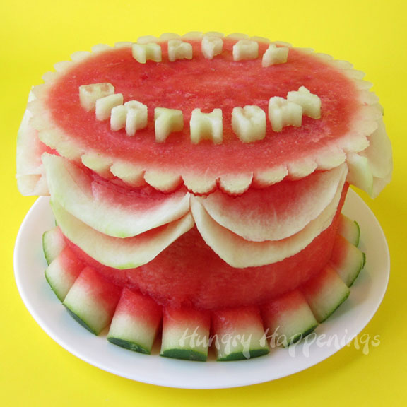 Watermelon Fruit Cake Instructions