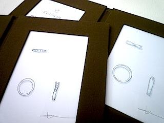 銀座オーダージュエリーサロンはオーダーしたリングのデザイン画プレゼント。