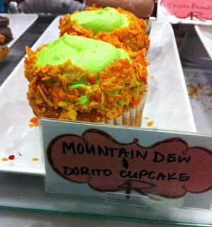 Cupcakes de Mountain Dew y Doritos.