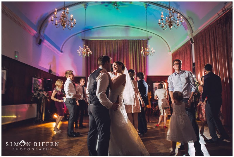 Bride and Groom dancing at Taunton School wedding