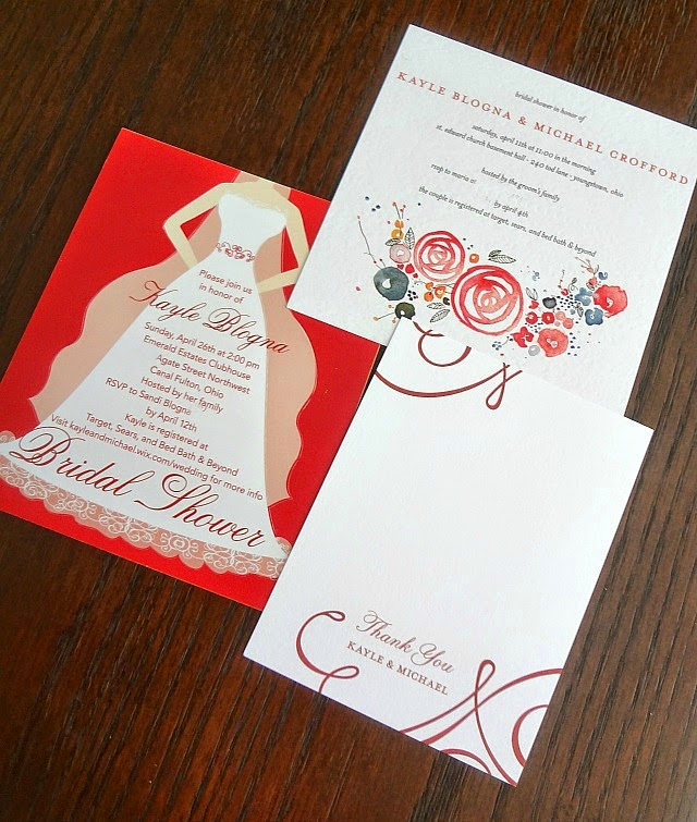 The Cooking Actress My WeddingPaperDivas Bridal Shower Invites – Wedding Paper Divas Thank You Cards