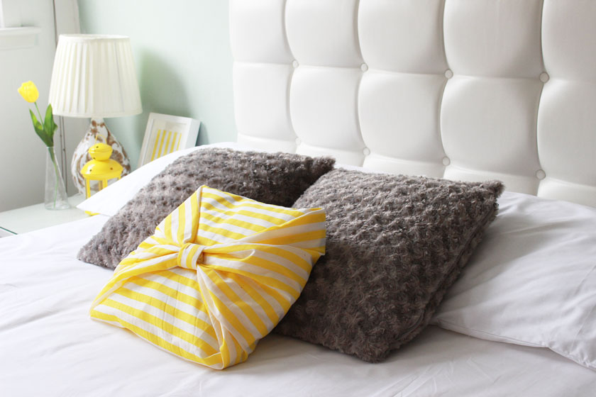 Spectacular I also picked up a bright yellow knitted throw from TKmaxx to add a pop of colour The grey one is from Ikea