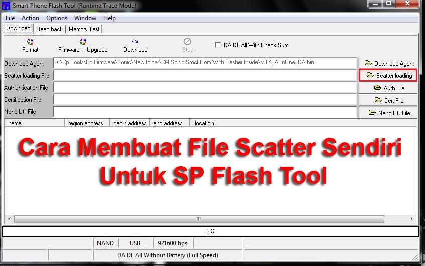 Cara Membuat Sendiri File Scatter Untuk SP Flash Tool