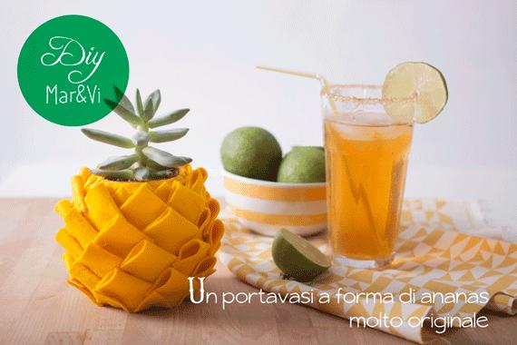 Portavasi fai da te a forma di ananas