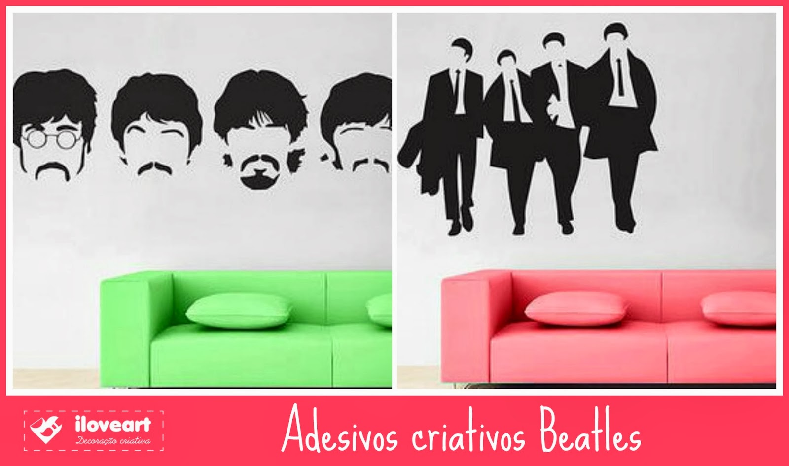 Adesivo de parede dos Beatles