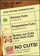 Vote against cuts on 3rd May