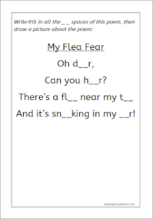 My Flea Fear _ea worksheet