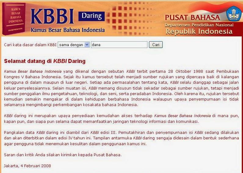 Kamus Besar Bahasa Indonesia Dalam Jaringan (KBBI Daring)