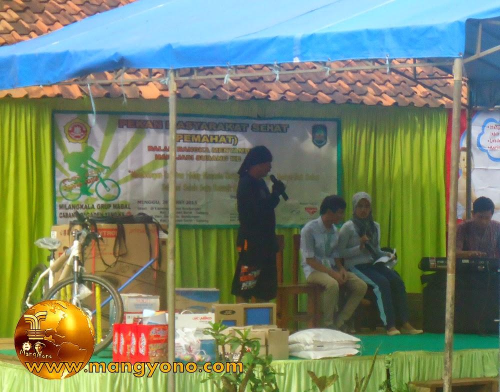 FOTO: Sambutan di acara PEMAHAT dan menyambut hari jadi Subang ke - 67 di Dusun Gardu
