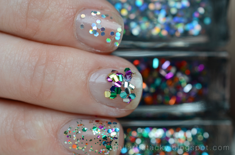 American Apparel Glitter Nail Polish Review- Light Year, Supernova, Galaxy