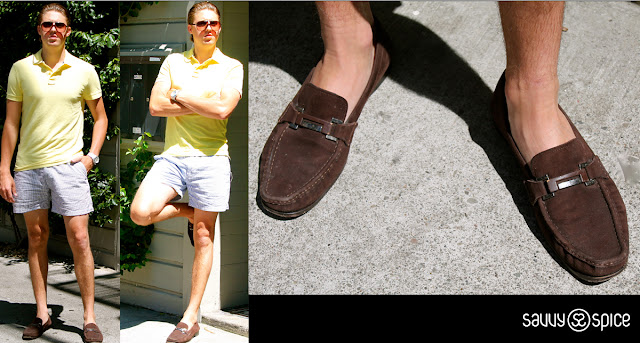Savvy+Spice,+Drew+Steliga+Chubbies+Shorts,+brown+loafers,+Celebrity+Style+for+less.