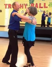 Dancing the Cha-Cha with my Instructor, Richard Blachford