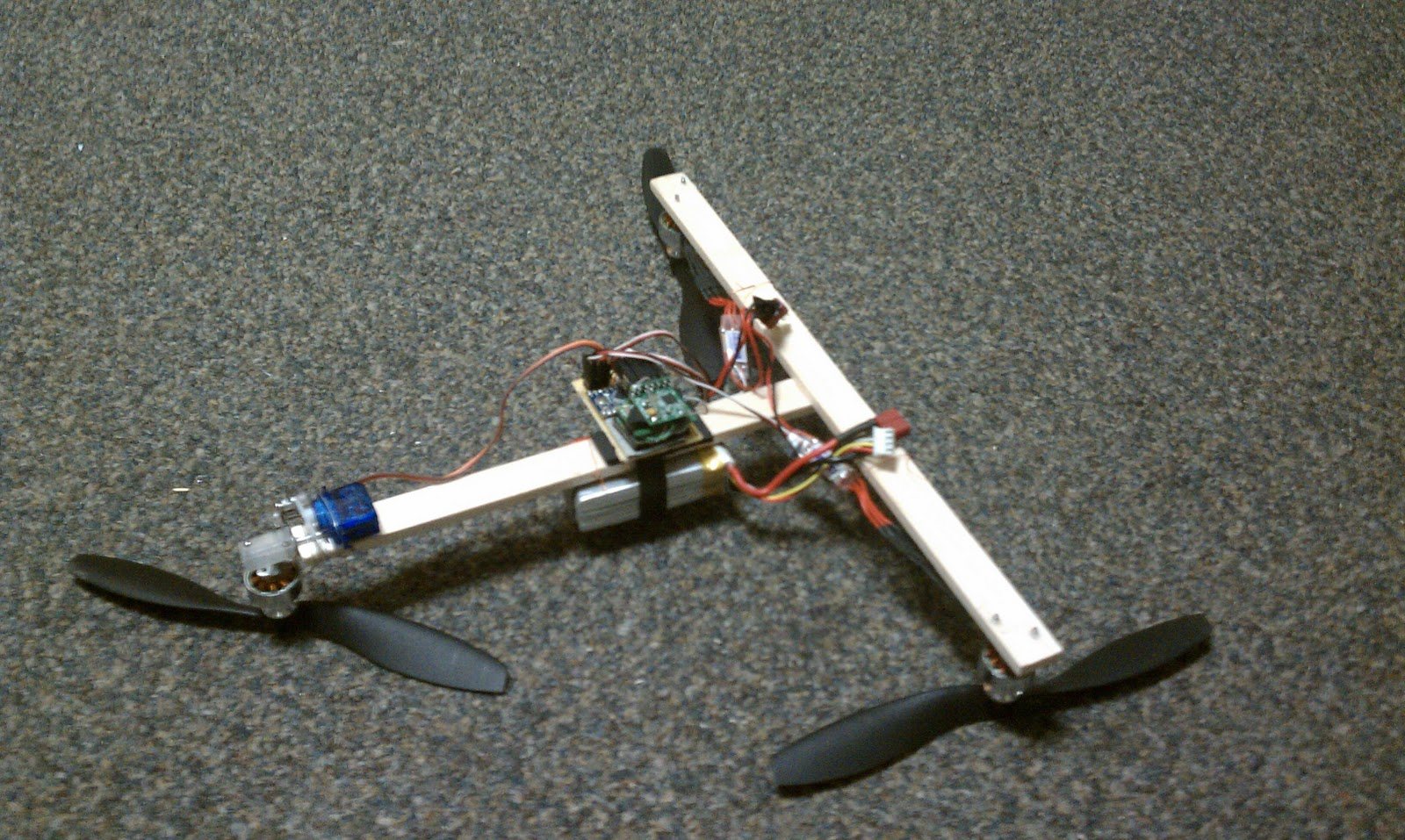 make everything: carbon fiber tricopter frame