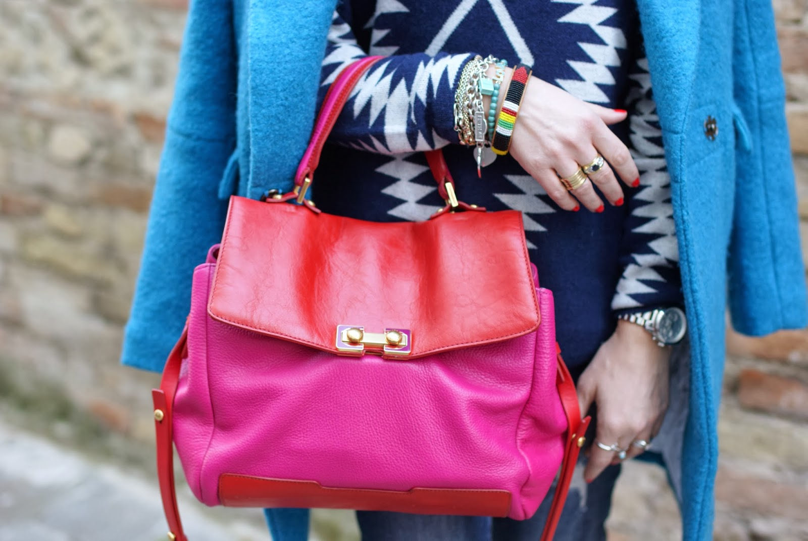 Bob's Memphis color block Marc by Marc Jacobs satchel, Fashion and Cookies, fashion blogger