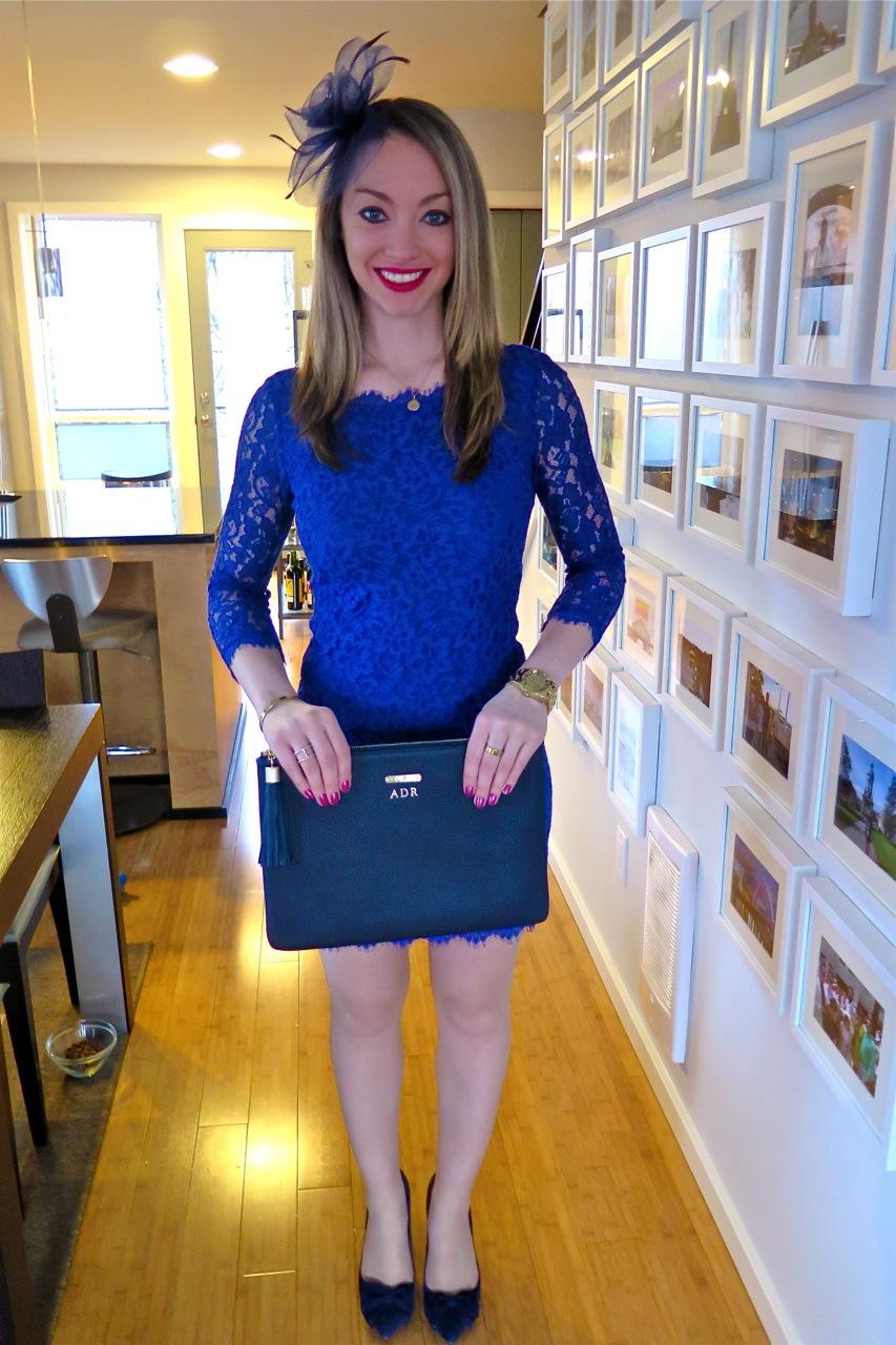Dvf blue zarita dress