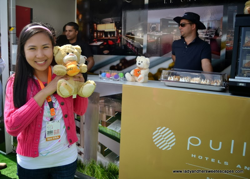 Pullman Hotel's mini-game and cool prize at the Dubai Food Carnival